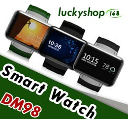 "smartwatch gsm Coupons - DM98 Smart Watch Fitness Tracker Wristwatch Android 4.4 Bluetooth 4.0 GPS WIFI 2.2"" GSM Phone WCDMA Smartwatch For Android & iPhone 1pcs"