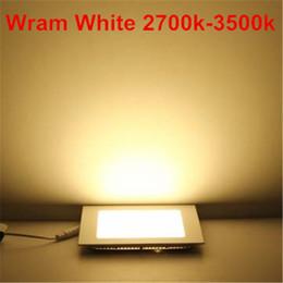1pc Empotrable LED Panel Light 3W 6W 9W 12W 15W 25W Square LED Downlight de techo AC86-265V con controlador blanco cálido / blanco / blanco frío desde fabricantes