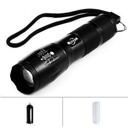 Taşınabilir LED El Feneri LED Torch Zumlanabilir Fener 8000LM E17 CREE XM-L T6 18650 veya 3xAAA Pil Için LED 5 Mod Işık nereden taktik anahtarlıklar tedarikçiler