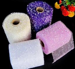 cm mètres Promotion Bouquet de mariage matériau d'emballage fantaisie bulle fil neige environ 15 cm de large, 18,5 mètres de long décorations de mariage WT069