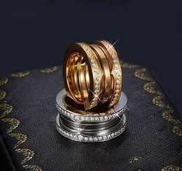 Plata esterlina 925 anillo de diamantes de Taladro de múltiples anillos de boda compromiso cortejo