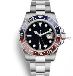 818735e0e66 reloj bulgari Rebajas Luxury New Gent s GMT II Relojes automáticos Acero  inoxidable Dive Blue Red Ceramic