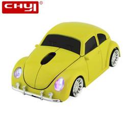 Besouro do rato on-line-CHYI Mouse Sem Fio Computador Gamer Fresco Beetle Car Forma Ratos 1600 DPI Mause Gaming Mause Com Receptor USB Para PC Portátil Presente