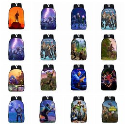 Wholesale casual college bags - Game Fortnite 3D Printing Backpacks 22 Styles Students Shoulder Bags Casual Daypack Lovely Character Cartoon Kids Outdoor Bags OOA5369