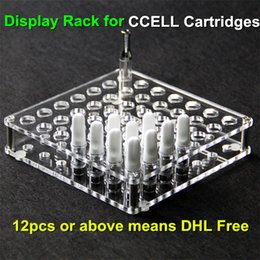 Wholesale New Hot Electronic - New Hot Selling Acrylic e cig Display Rack Stand Electronic Cigarette Stand Shelf Holder Rack for CCELL Cartridges 92a3 atomizer CE3 ecigs