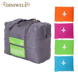 Wholesale Large Bedding Set - Wholesale- DINIWELL 32L Large Capacity Luggage Packing Tote Shoulder Travel Shopping Big Bag Folding Clothes Storage Pouch Organizer