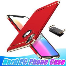 capas para telefone celular galáxia Desconto Luxo tampa traseira de proteção total galvanizado rígido pc phone case para iphone xs max xr x 7 8 plus samsung galaxy a6 a8 a9 j6 j7 2018