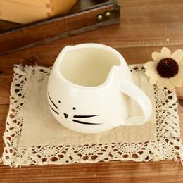 Любитель кружки онлайн-Eco-Friendly 400мл Прекрасный Cute Cat Кубок Сок Дизайн Кружка кофе Керамические Kawaii Cat Lovers Кружки Завтрак Молоко Кружка чая Кружки