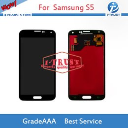 Wholesale Panel Screens - Wholesales TFT LCD Display For Samsung S5 G900M G900F G900A i9600 G900 LCD Touch Screen Digitizer With free repaire tools and Free shipping