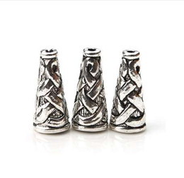 Canada 10 pcs / lot 18 * 6.5mm Antique Silver Color Cone Bead Caps Embossing Alloy End Cap DIY Résultats Artisanat Bijoux Offre