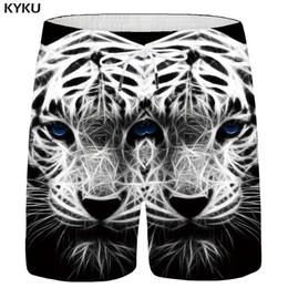 KYKU Tiger Shorts Men Cinza Do Vintage Shorts Animal Carga 3d Impresso  Calças Curtas Havaí Aptidão Casual Mens Verão Plus Size 25cca8d215746