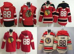 Wholesale Cheap Sports Hoodies - 2015 Chicago Blackhawks Hoodies Mens #88 Patrick Kane Red Beige Ice Hockey Hoddlies Sport Jerseys S-3XL,100% Stitched,Cheap Wholesale
