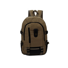 Wholesale Vintage Style Large Canvas Backpack - Wholesale- Fashion Vintage High Quality Men's Canvas Schoolbag Backpacks Bags Large Capacity Travel New W1696