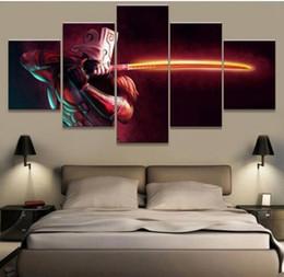 abstraktes gesicht malerei leinwand Rabatt Moderne Auf Der Wandkunst Modulare Bilder 5 Panel Bunte Gesicht Für Wohnzimmer Dekoration Abstrakte Malerei Auf Leinwand