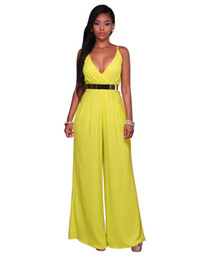 df869c138d8d China 2018 Summer Deep V Neck Club Wear Overalls For Women Jumpsuits Sling  Wide Leg Loose