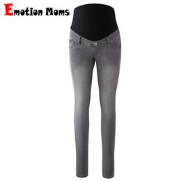 0c632dfe916ff Emotion Moms Womens Maternity Jeans Pants For Pregnant Women Nursing Trousers  Pregnancy Overalls Denim Long Prop Belly Legging