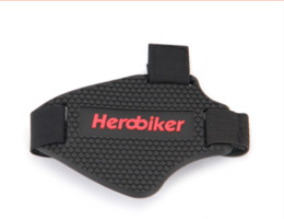 Wholesale motorcycle riding shoe - HEROBIKER Wear-resisting Rubber Motorcycle Gear Shift Pad Riding Shoes Scuff Mark Protector Motorbike Boots Cover Shifter Guards