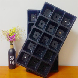 Wholesale flower pot nursery - 15 Hole Nursery Pot Garden Supplies Black Propagation Tray Plant Germination Grow Box 1 78gc C R
