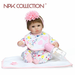 Wholesale Realistic Soft Toys - lifelike soft lovely premmie baby doll realistic bebe reborn baby playing toys for kids Christmas Gift popular