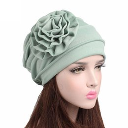 Wholesale Turbans Hats Scarves - female Winter Hat cotton beanie women for autumn Women Cancer Chemo Hat Beanie Scarf Turban Head Wrap Cap Gorros#YL