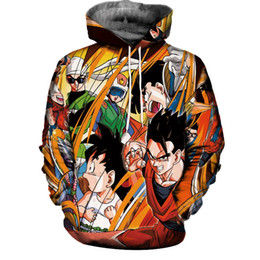 Wholesale Dragon Long Sleeve - Unisex 3D Sweatshirt Dragon Ball Z kid Goku 3d Hoodies Mens Womens Graphic Print Pullover Tops Hooded Tracksuit