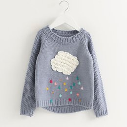 Wholesale Jumpers Clothing For Kids - Girls Clothes Spring Sweater Sweaters Children Cartoon Bear Leader Cloud Long Sleeve Outerwear O-neck Knitwear For Kids 3-7Y