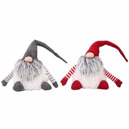 2019 brinquedos de papai noel Bonecas dos desenhos animados de natal presente para as crianças XMAS material fofo XMAS brinquedos sofá home decor criativas Bonecos de boneco de neve de Papai Noel CFG12 brinquedos de papai noel barato