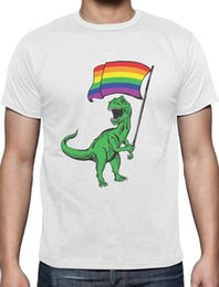 Wholesale idea red - T-Rex Rawr Pride Parade Gay & Lesbian Rainbow Flag T-Shirt Gift Idea