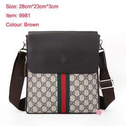 Wholesale Denim Wool - 2018 Famous Brand Leather Men Bag Briefcase Casual Business Leather Mens Messenger Bag Vintage Men's Crossbody Bag bolsas male wallets A001