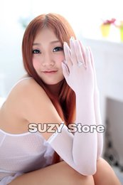Wholesale Long Sleeve Gloves Fashion - NEW Sexy Nylon Long sleeve Lace Seamless Pantyhose Women Gloves Mitten Colour Women Temptation Night Gloves Mittens