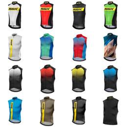 Wholesale Green Vests For Men - MAVIC team Cycling Sleeveless jersey Vest summer style quick dry mtb bike sportswear for men D0814