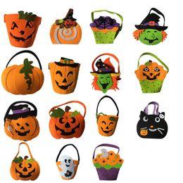 Deutschland Halloween-Kürbis-Taschen Hallowmas sackt Geschenk-Beutel-Zugschnur-Süßigkeits-Beutel-Tricks oder Halloween-Partei-Bevorzugung für Kinderspielwaren ein Versorgung