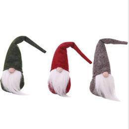 Enfeites de duende on-line-Decoração de natal Bonito Elf Festival Faceless Xmas Dinner Party Brinquedos de Pelúcia Feliz Natal enfeites de Presente Dos Miúdos