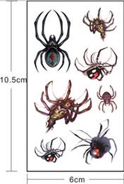 Cicatrices de araña Tatuajes Etiqueta engomada de la decoración Pegatinas de Halloween Serie Fake Scab Maquillaje Fiesta Horror Herida A prueba de agua Impermeable Paster 105 * 60 de calidad superior desde fabricantes