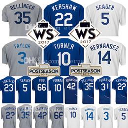 Wholesale Clayton Baseball - 22 Clayton Kershaw 10 Justin Turner Jersey 5 Corey Seager 35 Cody Bellinger 23 Adrian Gonzalez Yasiel Puig Pederson Taylor Hernandez Jerseys