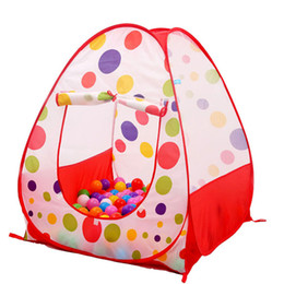 Wholesale Pop Up House - Portable Large Kids Play Tent Pop Up Play House Children Lodge Tent Indoor Outdoor for Children (Without Balls)