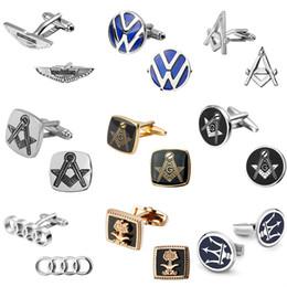 Boutons de manchette drapeau manchette en Ligne-Drapeau saoudien Drapeau maçonnique Boutons de manchette Volkswagen Audi Toyota Logo Boutons de manchette Boss Bijoux Chemise De Manchette Boutons De Manchette 5 paires Cadeau De Noël