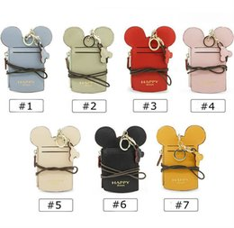Wholesale Card Strap - cartoon ear letter happy dream Lanyard neck strap card holder Name Credit Card Holders coin purse kids