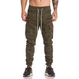 Wholesale Free Gym Workouts - Wholesale-2018 asrv gyms pants bodybuilding clothing Men's gasp workout casual camouflage sweatpants joggers pants skinny trousers