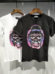 Wholesale Men Pattern Flower Shirt - 2018 New Fashion women men T-Shirt Students Short sleeve Casual Brand Jacket Tops Boys girls shirt Tees Coat D33