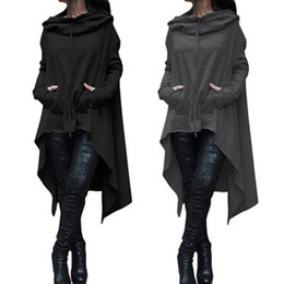 Wholesale Ladies Black Wool Coats - High Quality Women Black Coats Autumn Ladies Batwing Wool Oversized Coat Casual Pullover Coat Jacket Loose Cape Outwear Cloak
