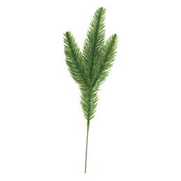 needle plant Coupons - 20pcs lot christmas trees decorative simulation plant Flower arranging accessories artificial moss needles cone (green)