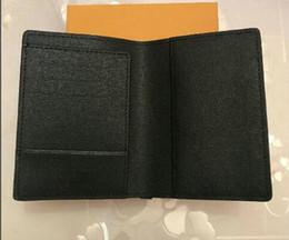 Luxury Designer COVER PASSAPORTO Marrone Mono Gram Canvas Leather Bianco Nero a scacchi Eip in pelle Portafogli per trasporto libero supplier canvas passport holder da supporto per passaporto su tela fornitori