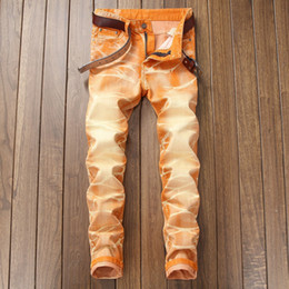 2019 jeans colorati per i mens Hi-Q Vintage Mens Jeans colorati Slim Fit Plue Size 40 42 Retro Mens Skinny Jeans 2018 New Uomo Pants Designer da uomo jeans colorati per i mens economici