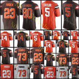 Wholesale Elite Football Jerseys - Men's 80 Jarvis Landry 5 Tyrod Taylor Brown Jersey #23 Joe Haden 79 Joe Thomas stitched Jerseys Limited Elite Free Shipping S-XXXL