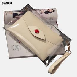 90c4717337037 2019 crossbody taschen lippen Transparente Frauen Party Taschen Umschläge  Abend Handtasche Kette Umhängetasche Kleine Lippen Neue