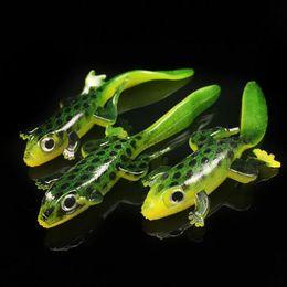 rane di rana Sconti 30 pz 7.5 cm 3g Rana Esche Da Pesca In Silicone Esche Morbide 3D Occhi Artificiale Lucertola Esca Pesca Affrontare Accessori