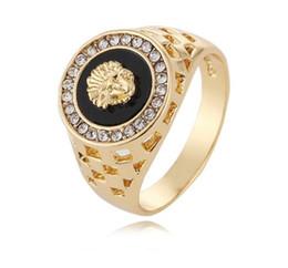 Wholesale Mens Head Bands - 2018 New Arrival mens ring top fashion hip pop Medusa Head Gold Silver Color Black males man Finger ring for men women Size 7-12