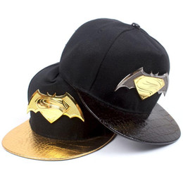 Wholesale Metal Logos Hats - The new batman hat man personality popular logo metal marking superman flat along the baseball caps