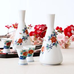 Faça porcelana on-line-Made In Japan Estilo Vintage pintados à mão sob-vitrificada flores de cerâmica em casa pequenos frascos de porcelana porcelana drinkware garrafas de saquê